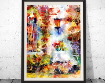 Colorful painting, colorful art, colorful abstract, abstract colorful, watercolor flowers, digital watercolor, watercolor floral, wall art