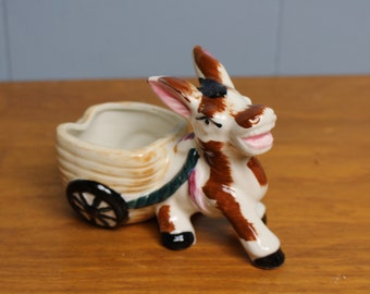 Vintage Ceramic Donkey Ashtray