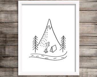 Happy Camper Print