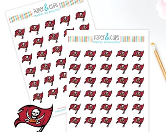 30 Tampa Bay Buccaneers Football Reminder or Planner Stickers