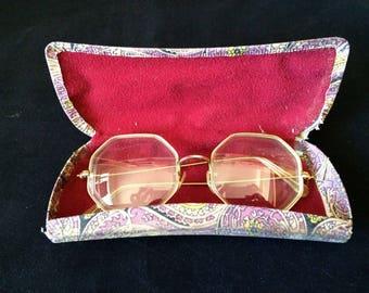 Vintage Eyeglasses Hippie/Mod 1960's Originals with case *SS38