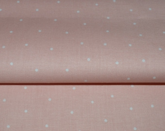 Dusty Pink Fabric, Blush Dots Fabric, Fabric by the yard, Fat Quarter, Quilting Fabric, Apparel Fabric, 100% Cotton Fabric