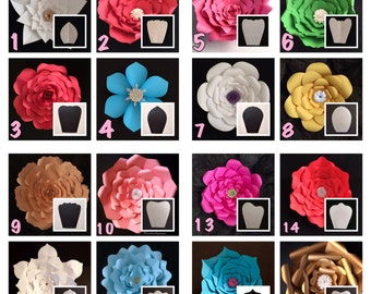 Digital Paper Flower Template / Price is for ONE style / READ Description