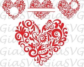 """Shop """"heart monogram svg"""" in Scrapbooking Supplies"""