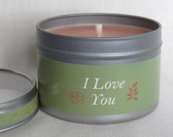 I Love You Aromatherapy Candle : Pure Rapeseed Wax & 6 Essential Oils