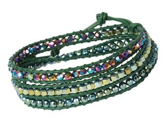 DIY Wrap Bracelet Kit - Green Brick (WRAP055)