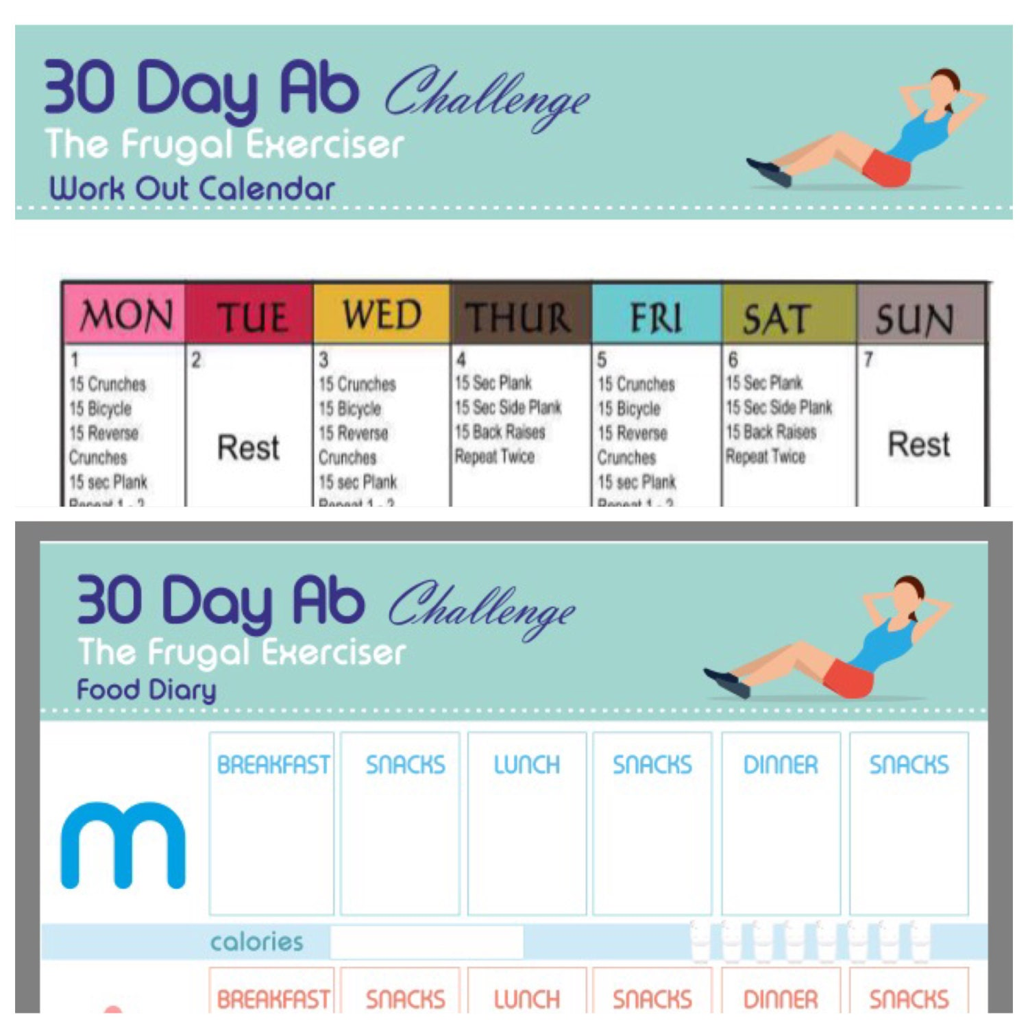 Workout List: Weight Loss Plan Ab Workout Printable The 30 Day Ab