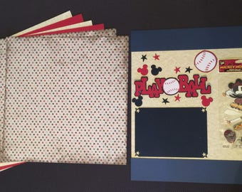 Mickey Mouse Play Ball Scrapbooking Kit