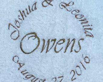 Personalized Wedding Towel