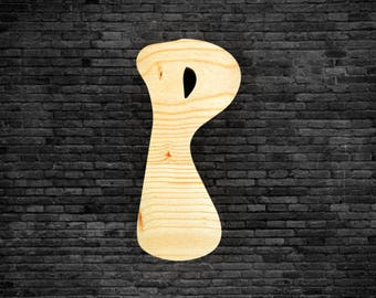 Letters in wood - P