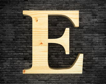Wood - E letters