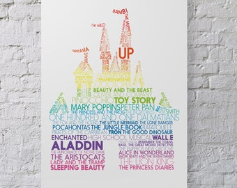 Disney Castle Typography Print