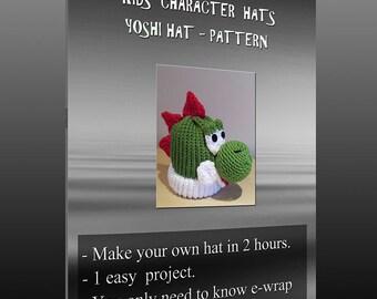 Kids character hats - Yoshi pattern
