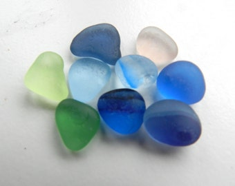 Small Dusky Shades Solid and Multi English Sea Glass Pieces