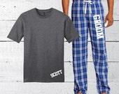 Men's Pajama set, Groom PJ's set, personalized pajamas, custom groom pajamas, custom pj, groom gift, husband gift