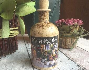 Drink me bottle etsy for Decor drink bottle