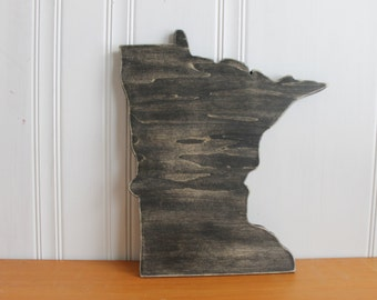 Wood Sign. State Sign. Home Sign. Wall Decor. Hand Painted.Minnesota Sign.Rustic.