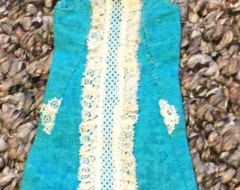 Vintage Francie Iced Blue Dress
