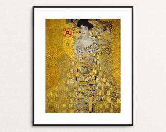 Adele Bloch-Bauer I, 1907 - Gustav Klimt Wall Art - Klimt Art Print - Archival Pigment Print - Gold Art - Klimt Adele Painting - Home Decor