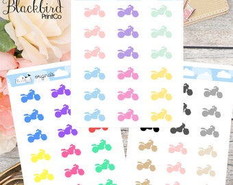 Motorcycle Planner Stickers [BR0011]