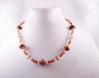 Brown Twisted Necklace