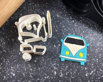 VW Van Cookie or Fondant Cutter Kit