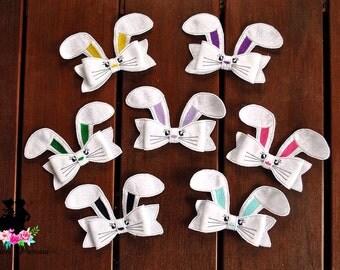 Bunny Bow hair clip, Easter bunny, Rabbit, hair clip, hair accessory, dress up, easter, bunny bow