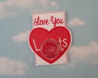 Valentine Candy Holder Card