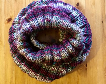 Striped Snuggie Cowl