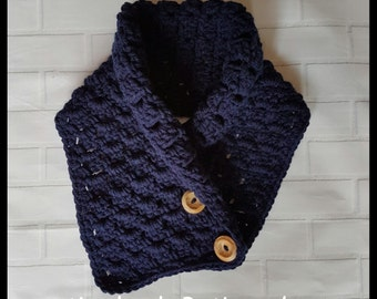 Handmade crochet adult neck cowl neck warmer