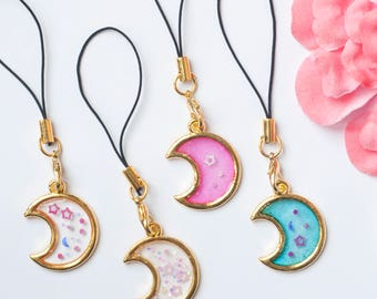 Phonestraps- Moon charms