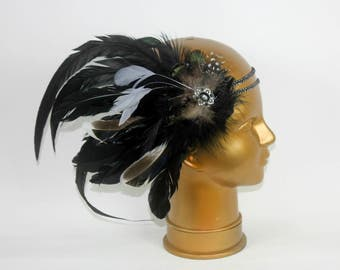 Black Feathers Headband by Shapeshifters