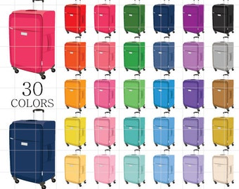 Luggage Clipart, Rainbow Luggage Clipart, Digital Luggage, Vacation Clipart, Luggage Clip Art, Travel Clipart, Holiday Clipart