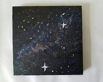Galaxy mini canvas painting 4inx4in
