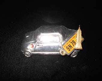 Hand Made New York City Taxi Cab Brooch Jewelry