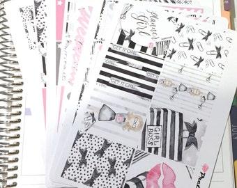 Claudia Erin Condren planner stickers weekly stickers kit planner girl matte & glossy stickers