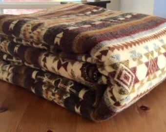 100% Alpaca riversible blanket