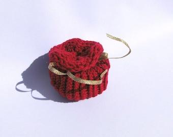 Bag red knitted bag Geschenverpackungen advent calendar bags packaging