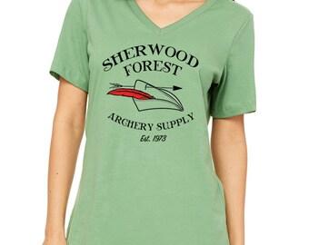 Disney Shirts Womens Robin Hood Shirt Sherwood Forest Archery Supply Disneyland Shirt Disney World Shirt Magic Kingdom Shirt Disney Cruise