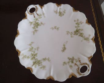 Limoges Porcelain Plate - Haviland France & Co - Gold Trim - Made In France