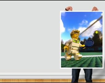 Tennis Lego instant download | kids room decor | kids bedroom | children's room | boy's room | girl's room | wall art | home decor | present