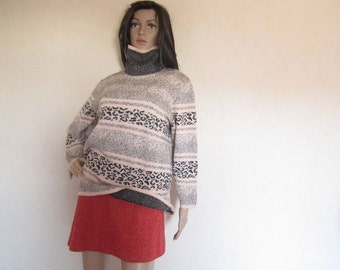 Vintage 80s Turtleneck Sweater Turtleneck Sweater pure new wool S / M