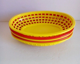 Retro Drive-In Burger Baskets--Set of Five