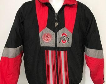 Vintage Ohio State OSU Reversible Winter Coat L/XL