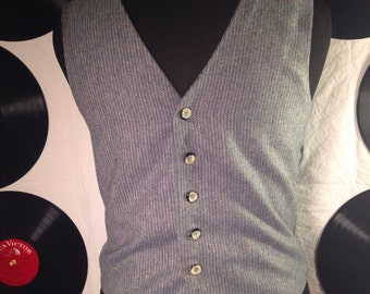 70's/ vintage tweed/ vest /wool/ vest/ mens vest/ wedding/ groomsman/ formal vest/70s clothing