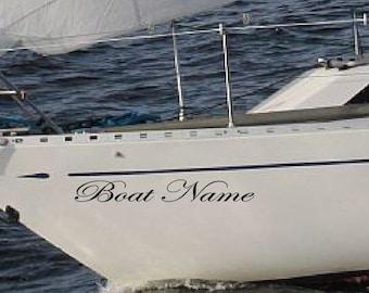 Custom Boat Name Sticker Vessel Decals Lettering Jet Ski DECAL