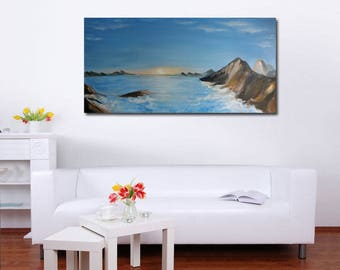 Oil Painting Original Landscape painting Large Painting Canvas wall art  Abstract painting Mountains Large wall art