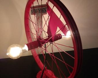 Bike Wheel Table Light