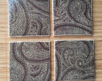 Handmade Coasters- Paisley