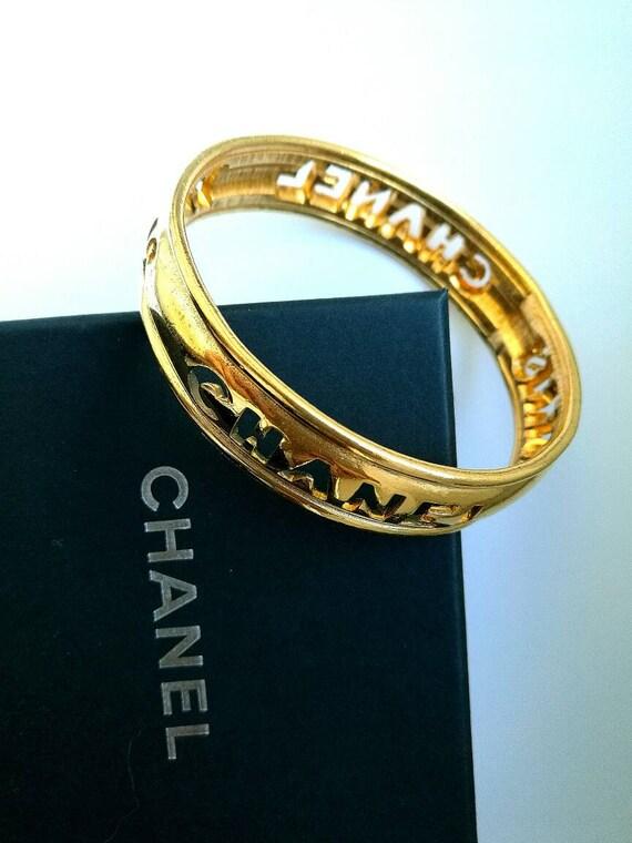 Authentic vintage Chanel gold plated bracelet